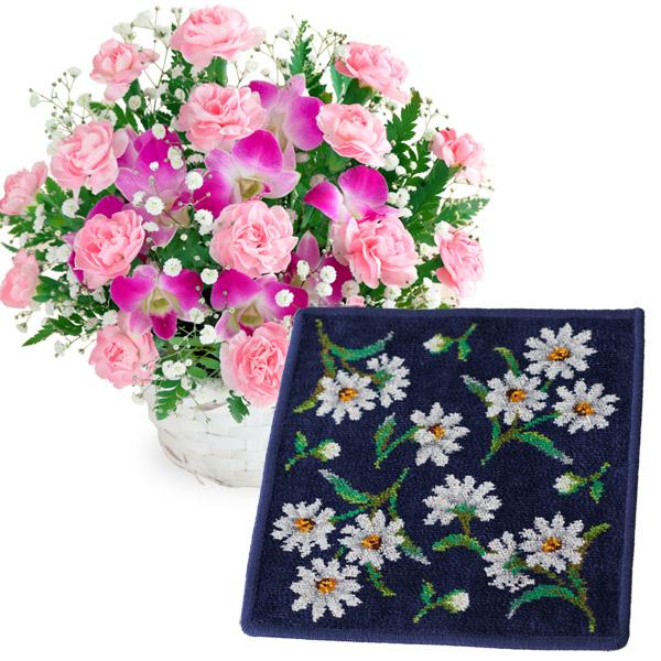 【母の日】スイートと【FEILER】ホワイトマーガレット ハンカチ c59521252 |花キューピットの2019母の日プレゼント特集