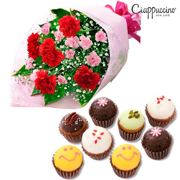 カーネーションの花束と【チャプチーノ】ベイクド・カップケーキ x10521269 |母の日プレゼント特集2019・5月12日