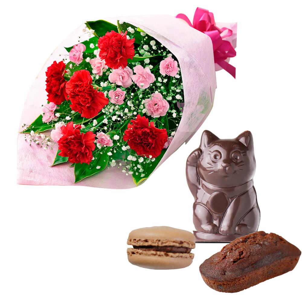 カーネーションの花束と【Mme KIKI】マダムキキのお店アソート z03521269 |母の日プレゼント特集2019・5月12日