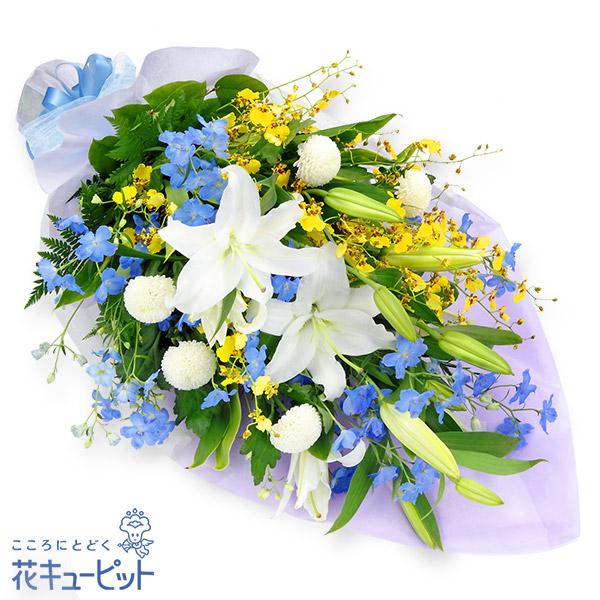 【お供え・お悔やみの献花】お供えの花束淡く咲き競う花たちは、まるで天上の花園のよう…。