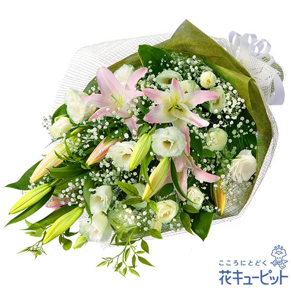 【お供え・お悔やみの献花】お供えの花束やわらかい色合いの花束です。