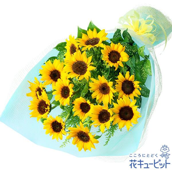 【誕生日フラワーギフト】ひまわりの花束ボリューム満点♪ひまわりの花束!