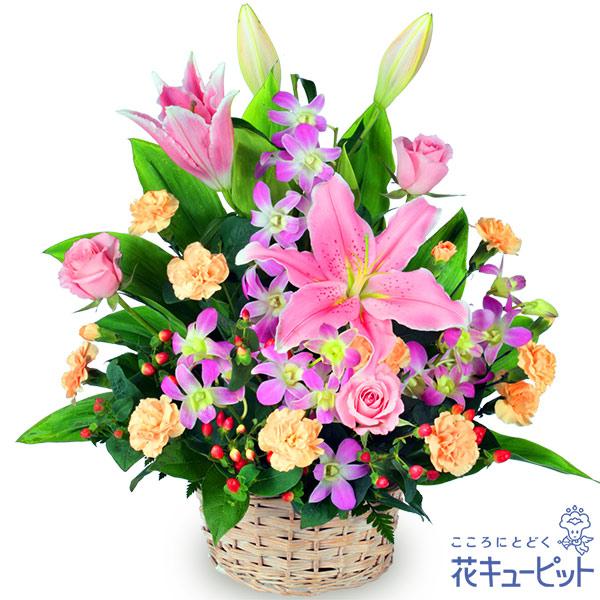 【ご退職祝い(法人)】ピンクユリのアレンジメント