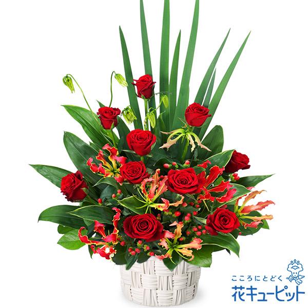 【開店祝い・開業祝い(法人)】赤バラの豪華なアレンジメント