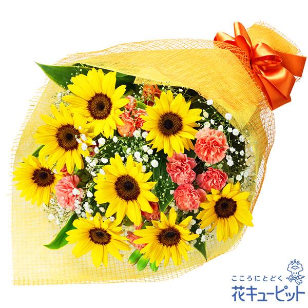 【ペット用フラワーギフト・お祝い】ひまわりの花束ひまわりの爽やかな明るさがお祝いにぴったりです!