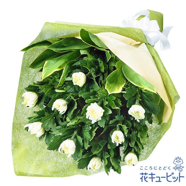 【お供え・お悔やみの献花】お供えの花束故人を偲ぶ、白菊のシンプルな花束