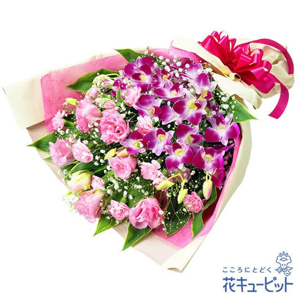 【お祝い】デンファレの豪華な花束ふんわりとしたボリュームたっぷりの花束