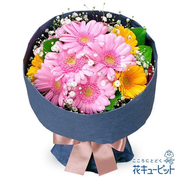 【お祝い】ガーベラの花キューピットブーケ2色のガーベラをミックス