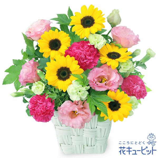 【誕生日フラワーギフト】ひまわりの鮮やかアレンジメント夏らしさ満開のひまわりを贈りましょう