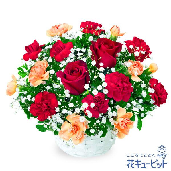 【接待のお返し(法人)】赤バラのアレンジメント