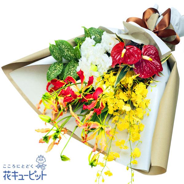 【予算で選ぶ 7000円から】夏の華やかな花束南国をイメージさせるようなフラワーギフト