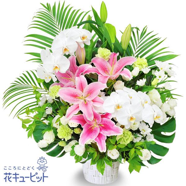 【お供え・お悔やみの献花】お供えのアレンジメント格調高く荘厳な雰囲気のアレンジメント