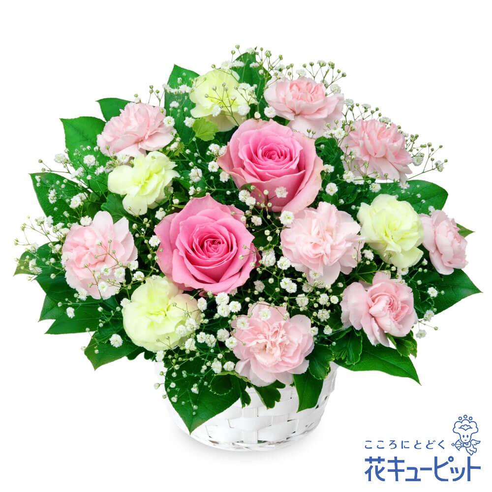 【お祝い(法人)】ピンクバラのアレンジメント