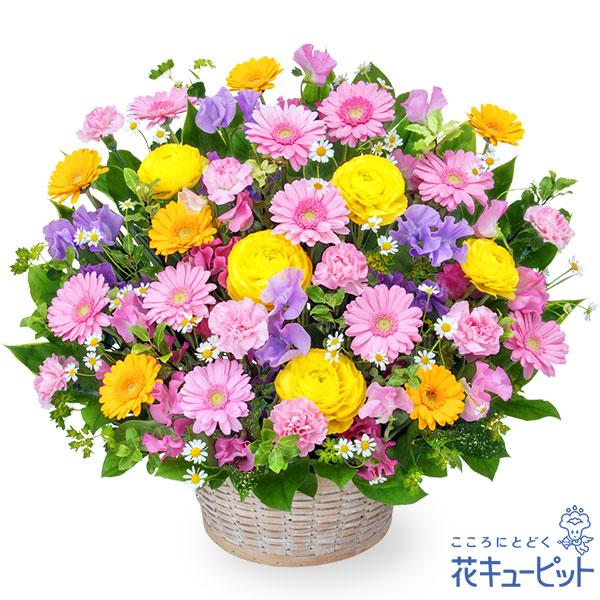 【3月の誕生花(ピンクガーベラ等)】春のカラフルアレンジメント特別な日に贈りたい華やかで春らしいフラワーギフト