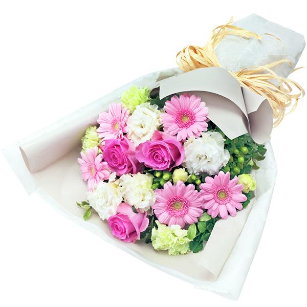 【お祝い】ガーベラとバラのナチュラルな花束女性に人気のナチュラルデザイン