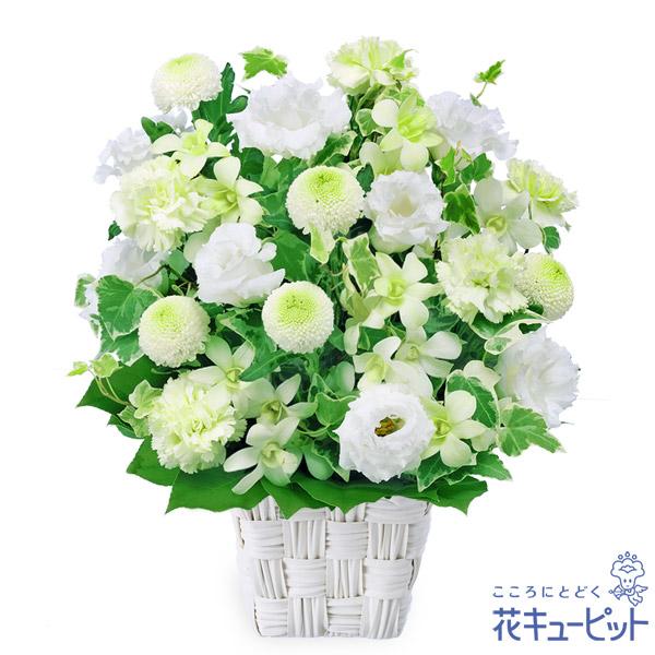 【お供え・お悔やみの献花】お供えのアレンジメント優しい雰囲気の中に上品さを感じられます