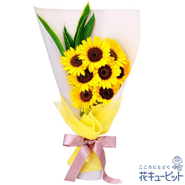 【誕生花 7月(ひまわり)(法人)】ひまわり8本の花束
