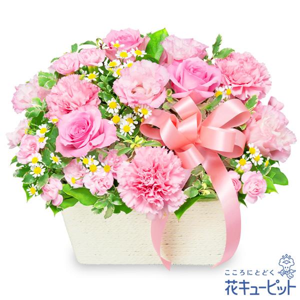 【出産祝い】バラのピンクアレンジメントかわいいものが好きな方へ贈りたいアレンジメント