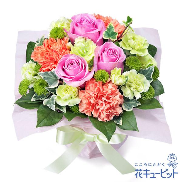 【誕生花 5月(ピンクバラ)(法人)】5月のバースデーアレンジメント