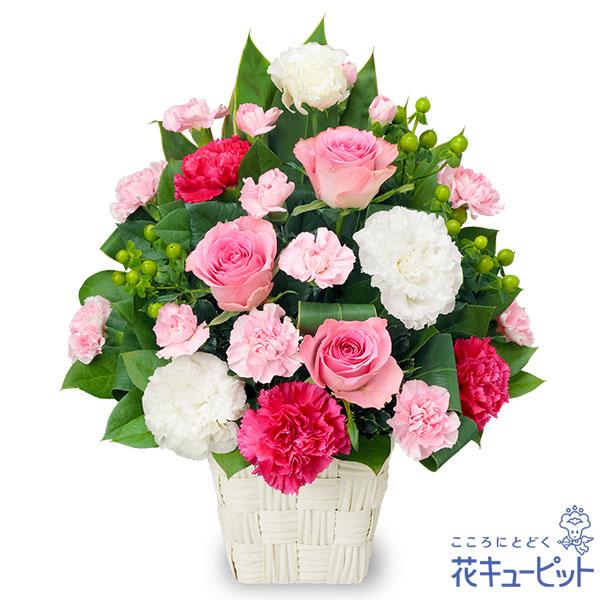 【お祝い(法人)】ピンクバラとカーネーションのアレンジメント