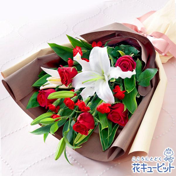 【母の日ギフト】ローズ&リリーの花束母の日に優雅な時間をお届けします