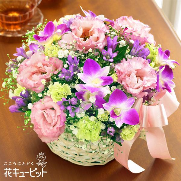 【誕生花 9月(デンファレ)(法人)】秋のピンクバスケット