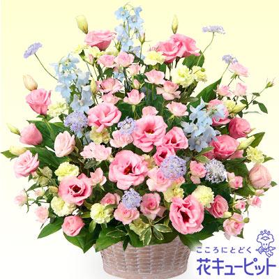 【お祝い】ピンクトルコキキョウのアレンジメント可愛らしいピンクトルコキキョウのアレンジメント