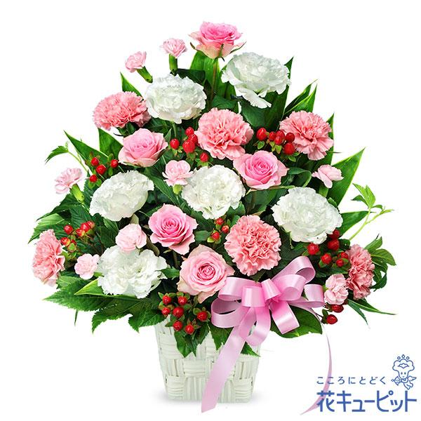 【お祝い(法人)】ピンクとホワイトの華やかアレンジメント