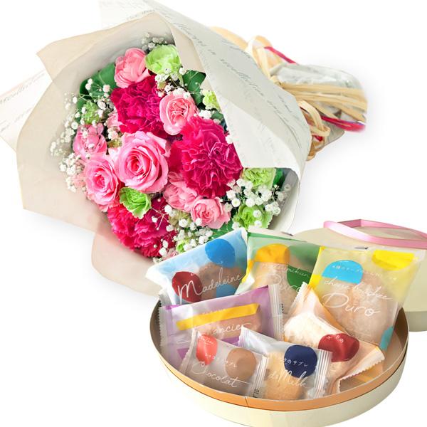 【母の日 スイーツ&グルメセット】ティーブーケと【果子乃季】スイートツリー(7種7個入)かわいくて美味しい♪素敵なBOX入りの焼菓子