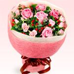 【予算で選ぶ 4000円から】ピンクバラの花束