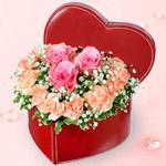 【予算で選ぶ 4000円から】ピンクバラのアレンジメント