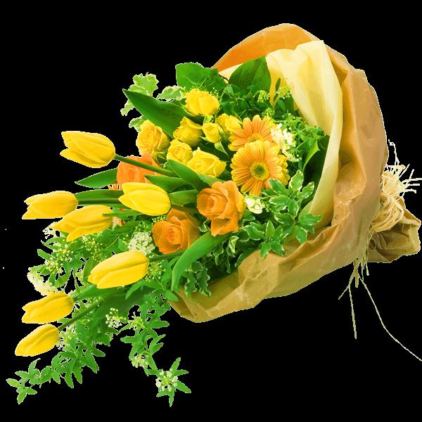 男性におすすめ<br>花束 男性におすすめ<br>花束 上品で親しみやすい|花キューピットのチューリップ特集 2020