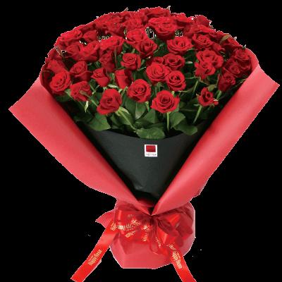 【還暦・ハッピーローズ】ハッピーローズ・セレクション 60本の赤バラの花束
