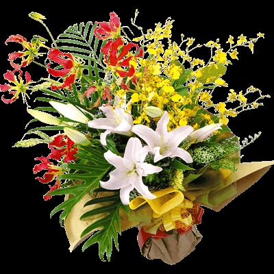 【予算で選ぶ 7000円から】ユリの花束