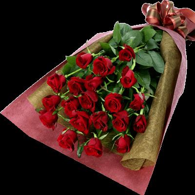 【花束】赤バラの花束