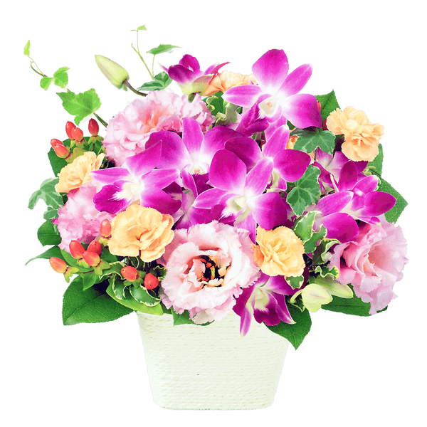 花キューピットのアレンジメント
