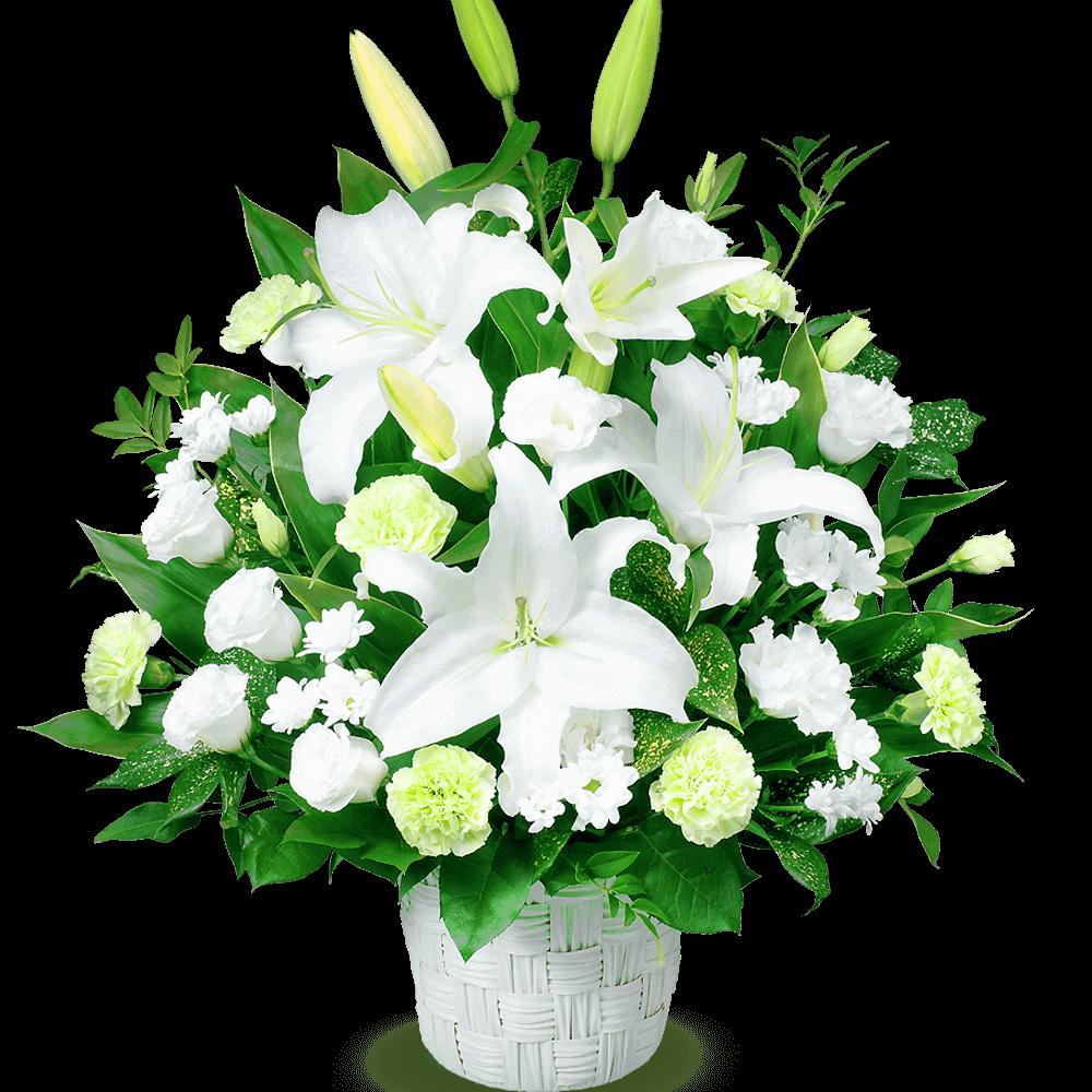 ご葬儀前・通夜・葬儀に贈る お供えの花
