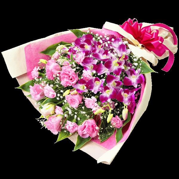 【退職祝い】デンファレの豪華な花束