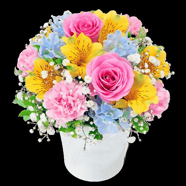 【4月の誕生花(アルストロメリア)】アルストロメリアのカラフルアレンジメント