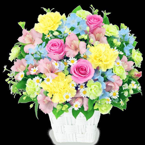 【4月の誕生花(アルストロメリア等)】アルストロメリアの春色アレンジメント