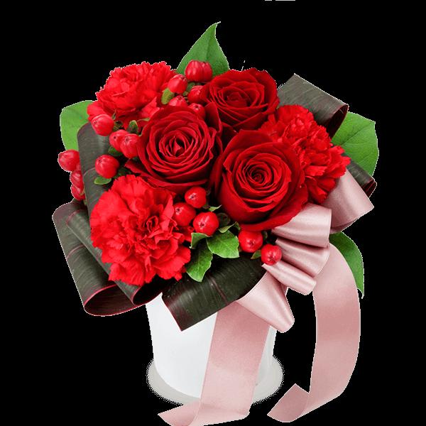 赤バラ<br>アレンジメント|花キューピットのバラ特集におすすめ!人気のプレゼント特集 2020