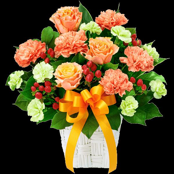 オレンジバラの<br>ギフト|花キューピットの父の日におすすめ!人気のプレゼント特集 2020