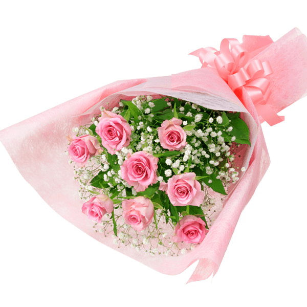 【5月の誕生花(ピンクバラ等)】ピンクバラの花束