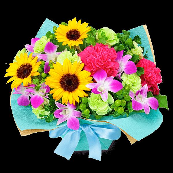 【7月の誕生花(ひまわり等)】7月のバースデーアレンジメント
