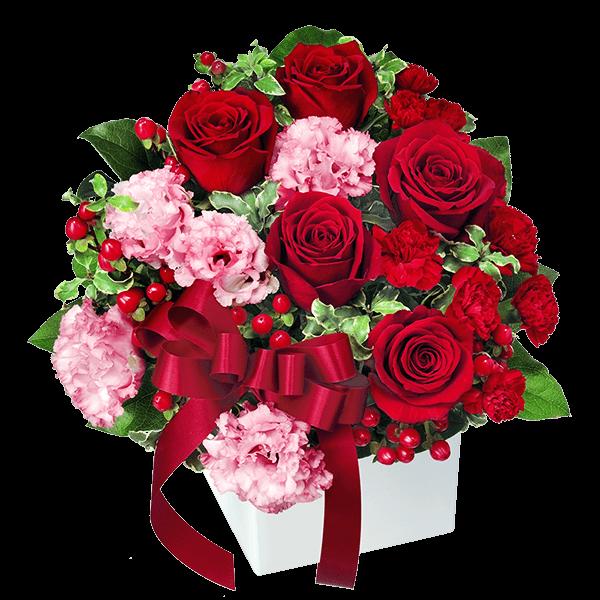 赤バラ アレンジメント 花キューピットのクリスマスのギフト・プレゼントにおすすめ!人気のプレゼント特集 2021