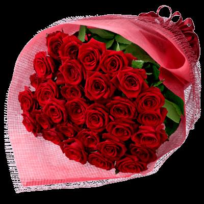 【花束】30本の赤バラの花束