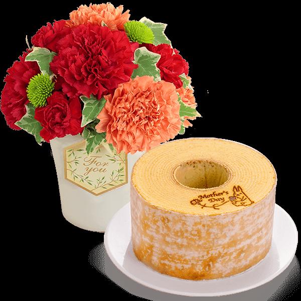お花とスイーツ&グルメのセット|花キューピットの母の日 お花とセット特集2020