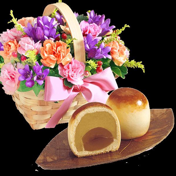 お花とスイーツ&ドリンクのセット|花キューピットの敬老の日におすすめ!人気のプレゼント特集 2021