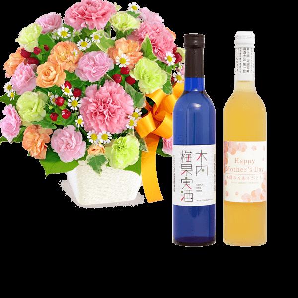 お花とドリンクのセット|花キューピットの母の日 お花とセット特集2020