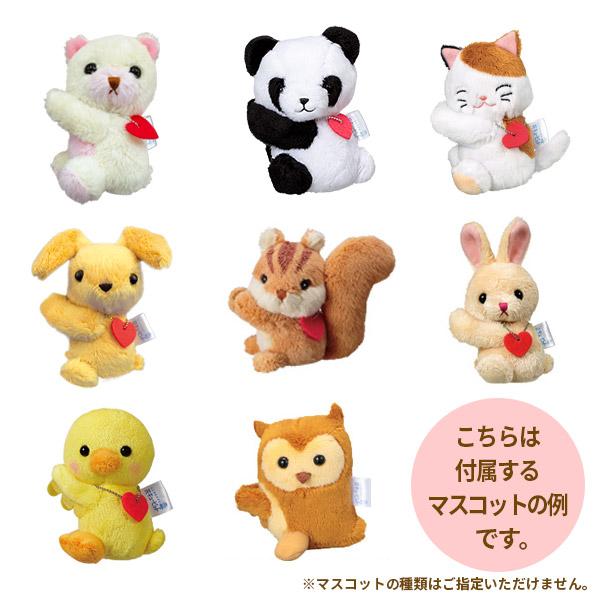 【誕生日フラワーギフト】ピンクバラのマスコット付きバスケットピンクバラと動物のマスコットがラブリーなアレンジメント